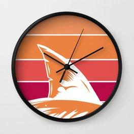 Retro Color Shark Wall Clock