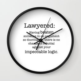 Lawyered Wall Clock