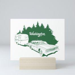 Retro Washington State Road Trip Mini Art Print