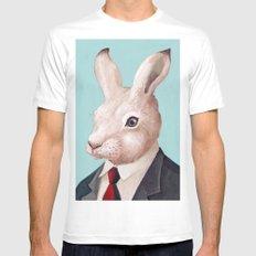 Rabbit Mens Fitted Tee MEDIUM White