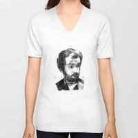 kubrick V-neck T-shirts featuring kubrick by Levvvel