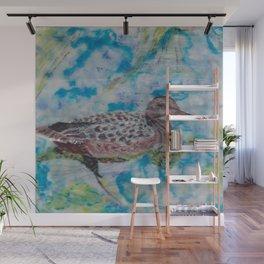 Duck, Encaustic painting by Karen Chapman Wall Mural