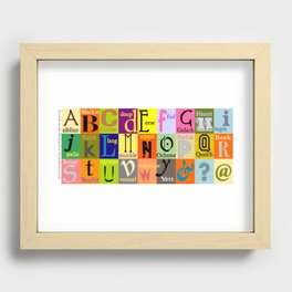 Alphabet of Scottish Words Recessed Framed Print