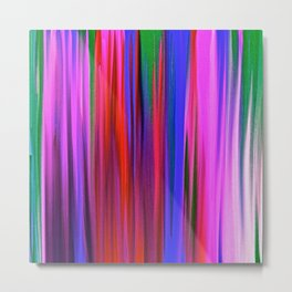 Rain  in Color Abstract Oil Pinting Metal Print