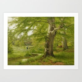 ANDERSEN-LUNDBY, ANDERS 1840 Lundby - 1923   Beech Forest in Early Summer Art Print