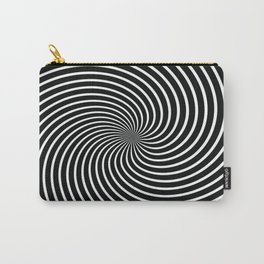 BLACK LICORICE SWIRL Abstract Art Carry-All Pouch