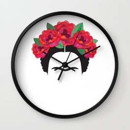 Frida Kahlo minimalist Wall Clock