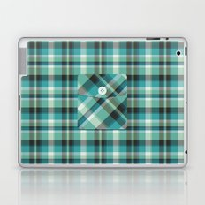 Plaid Pocket - Teal Blue/Green Laptop & iPad Skin