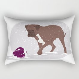 playing in the snow Rectangular Pillow
