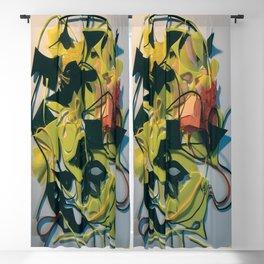 Yellow Jacket Heart- Fantasy Abstract  Blackout Curtain