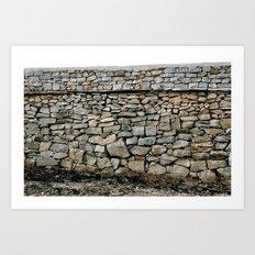 Stone Wall in Southern India (Karnataka & India & Travel) Art Print