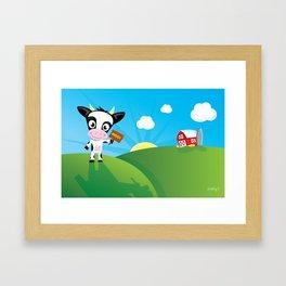 CowMoo Framed Art Print
