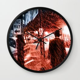 Walking Shadow Wall Clock