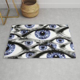 Blue Eyes HD by JC LOGAN 4 Simply Blessed Rug