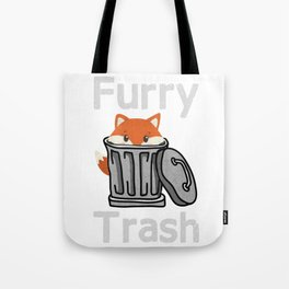 Furry Trash Fox Lover Trash Can Nature City Town Gift Tote Bag