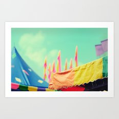 Carnival canvas colors Art Print