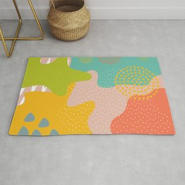 Abstract Memphis Style Rug