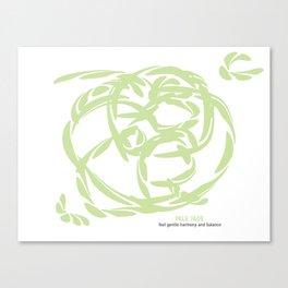 PALE JADE: Gentle Harmony and Balance Canvas Print