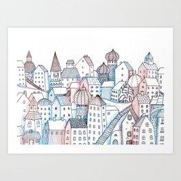 Smalltown Silence Art Print