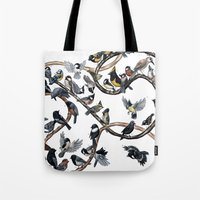 tits Tote Bags featuring Tits of the World by Jada Fitch