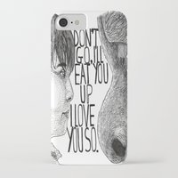 wild things iPhone & iPod Cases featuring Wild Things by Lily Livingston