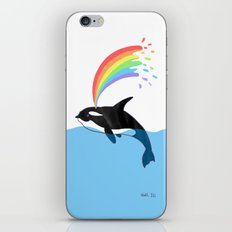 Killer Whale Blows Rainbow iPhone & iPod Skin