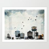 Watertanks 2 Art Print
