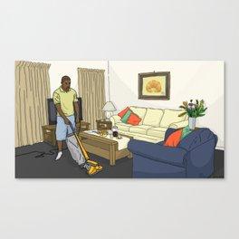 Ye Vacuuming Canvas Print