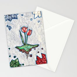 Floating Tulip Stationery Cards