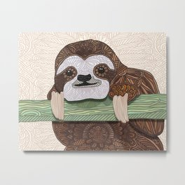 It's a sloth kind of day Metal Print