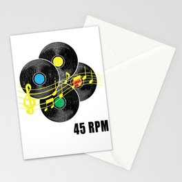 45 RPM Record Hipster LP Stationery Cards