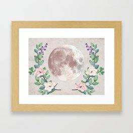 Vanilla Floral D. Framed Art Print