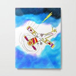 storm pilot Metal Print
