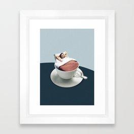 Morning rituals Framed Art Print