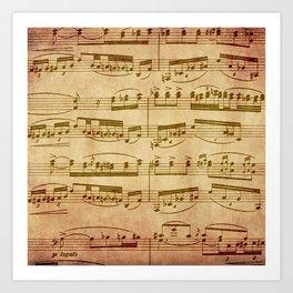 Vintage Sheet Music Art Print