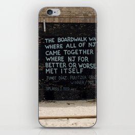 Jersey Shore Boardwalk / Junot Diaz Quote iPhone Skin