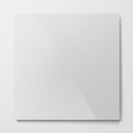 Bright White Stitched and Quilted Pattern Metal Print