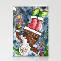 santa Stationery Cards featuring Santa by Shelley Ylst Art