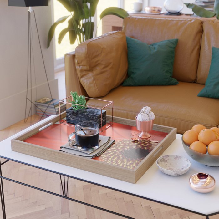 Orange Serving Tray