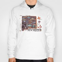 mexico Hoodies featuring New Mexico by Christiane Engel
