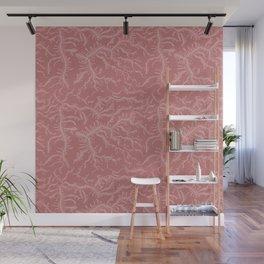 Ferning - Dusty Rose Wall Mural