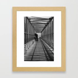 Looking Over Framed Art Print