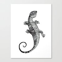 lizard Canvas Prints featuring lizard by Emma Reznikova