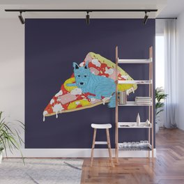 Pizza Dog Wall Mural