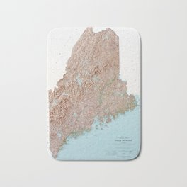 State of Maine Map (1977) Bath Mat