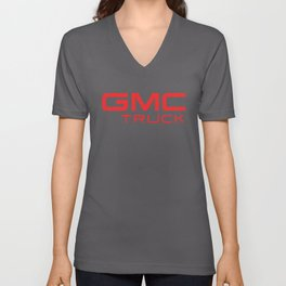 Black Truck Auto SUV Motor Sports Red GMC TRUCK Gildan trucker Unisex V-Neck
