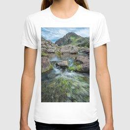 Tryfan Mountain Stream  T-shirt
