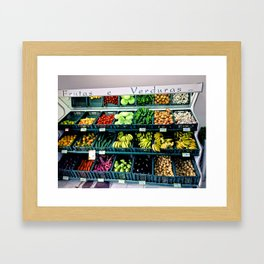 Fruitas & Verduras Framed Art Print