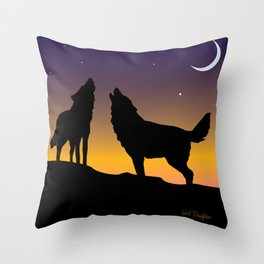 Howl Together Throw Pillow