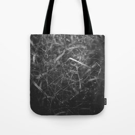 Fragility in black and white Tote Bag